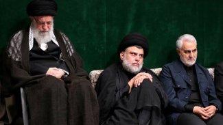 Sadr, İran'da Hameney ve Süleymani ile bir arada