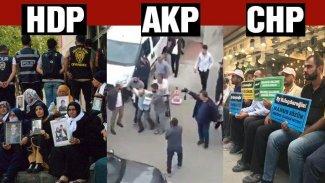 HDP, CHP ve AK Parti önünde oturma eylemleri