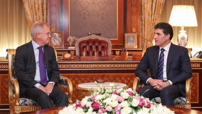 Kürdistan Bölgesi Başkanı İsveç'in Bağdat Büyükelçisi'ni kabul etti