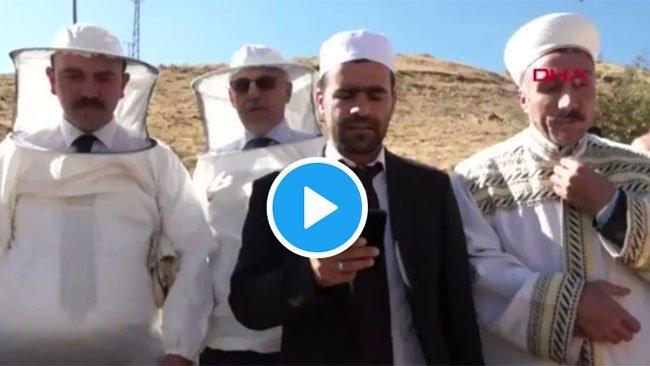 Kürt ilinde yaşandı... Verimli bal sezonu için şükür duasında arılar saldırdı
