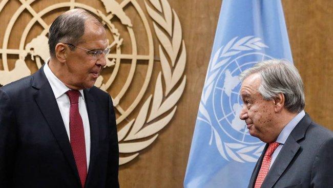 Lavrov ile Guterres, Suriye'yi görüştü