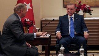 Erdoğan ve Graham, Suriye ve F-35'i görüştü