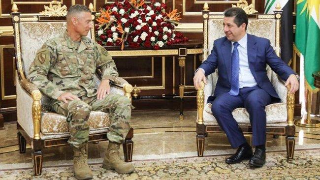 Başbakan Barzani, ABD ve Uluslararası Koalisyon askeri heyetlerini kabul etti