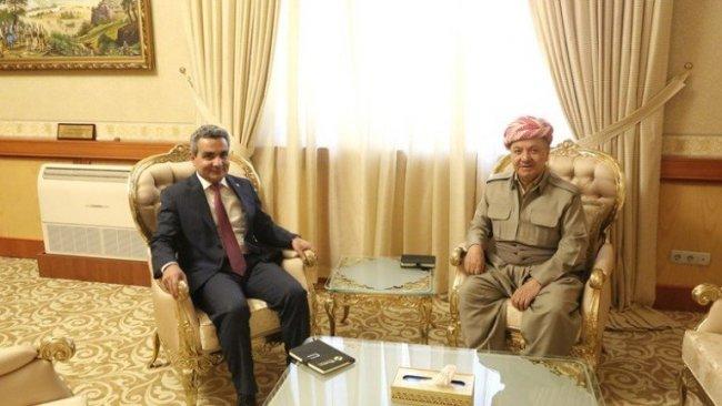 Başkan Barzani yeni Erbil Valisi'ni kabul etti