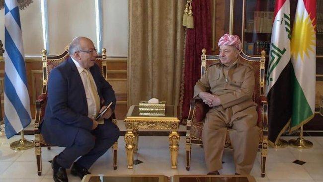 Başkan Barzani, Yunanistan Büyükelçisi'ni kabul etti