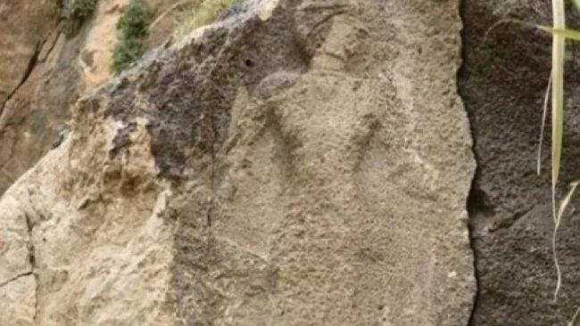 Kirmanşan'da Lululara ait 3 bin yıllık rölyef bulundu