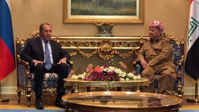 Başkan Barzani, Lavrov ile bir araya geldi
