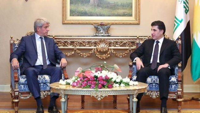 Başkan Neçirvan Barzani, Fransız Büyükelçi'yi kabul etti