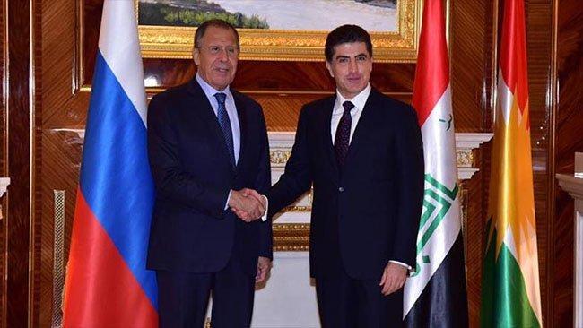 Neçirvan Barzani, Lavrov ile görüştü