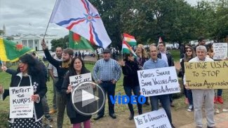 Kürtler Beyaz Saray önünde protesto düzenledi