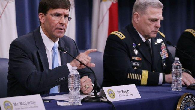 Pentagon: Kuvvetlerimiziyeniden konumlandırıyoruz