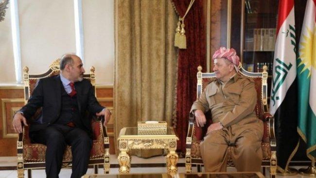 Başkan Barzani Suriyeli siyasetçi ile görüştü