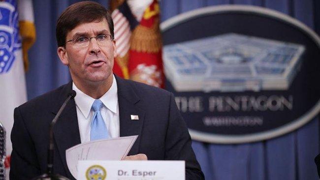 ABD Savunma Bakanı Esper: Suriye'de çok kötü bir duruma düşürüldük