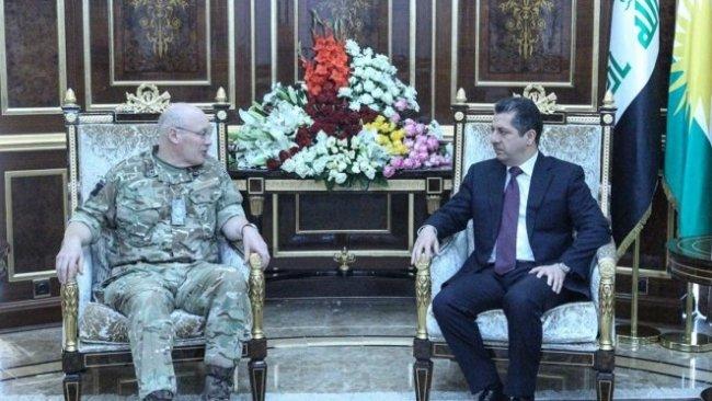 Başbakan Barzani, İngiltere Ortadoğu Askeri Danışmanı ile görüştü