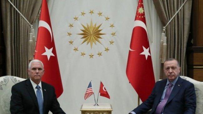 Erdoğan ve Mike Pence görüşmesi sona erdi