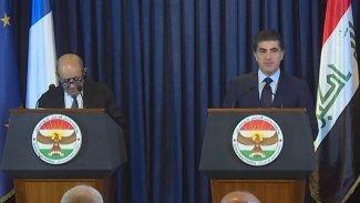 Neçirvan Barzani ile Le Drian'dan önemli açıklamalar