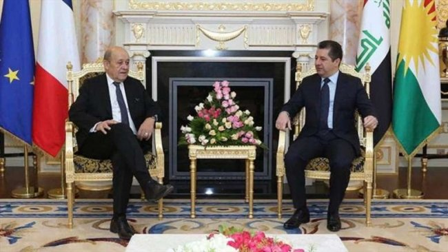 Başbakan ile Le Drian Rojava'yı görüştü