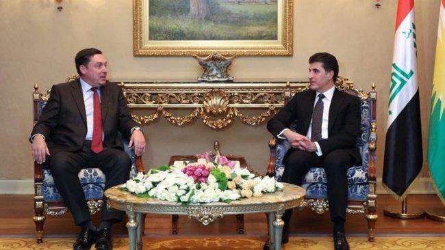 Kürdistan Bölge Başkanı, İngiltere Büyükelçisi ile bir araya geldi