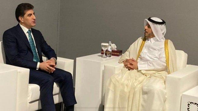 Başkan Neçirvan Barzani, Katar Başbakanı ile görüştü