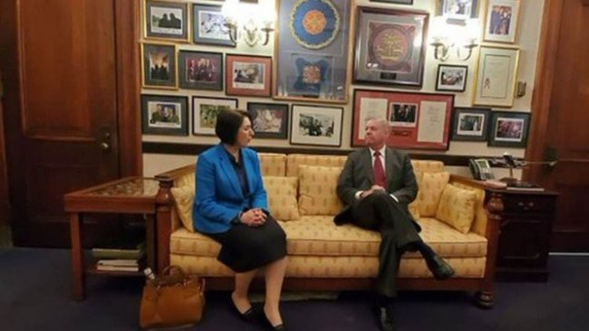 Kürdistan Washington Temsilcisi, Senatör Graham ile bir araya geldi