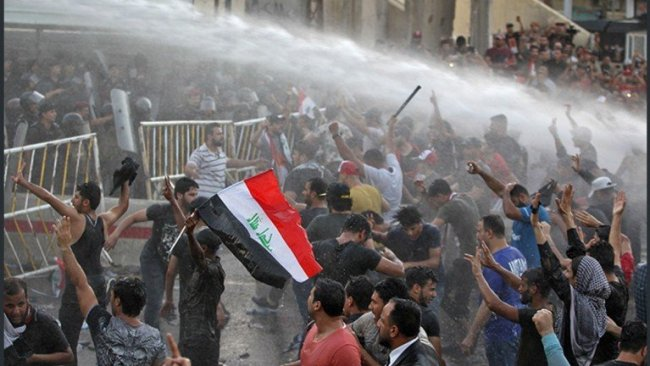 Bağdat'ta göstericiler sivil itaatsizlik eylemi başlattı
