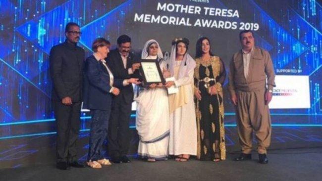 Rahibe Teresa Ödülü, Ezidileri Kurtarma Ofisine verildi!