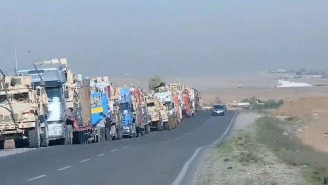 Rojava'dan çekilen ABD askeri konvoyu Kürdistan Bölgesi'nde