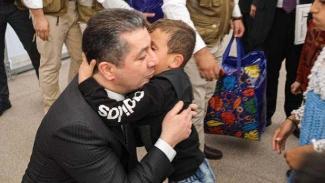 Başbakan Barzani, Rojava Kürtlerinin kampında
