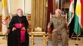 Vatikan Büyükelçisi'den Başkan Barzani ve Peşmerge'ye teşekkür