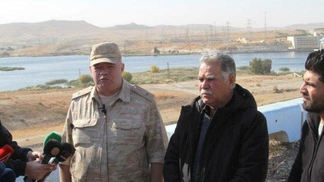 Kobane'de Rus general ile Kürtlerden ortak basın açıklaması
