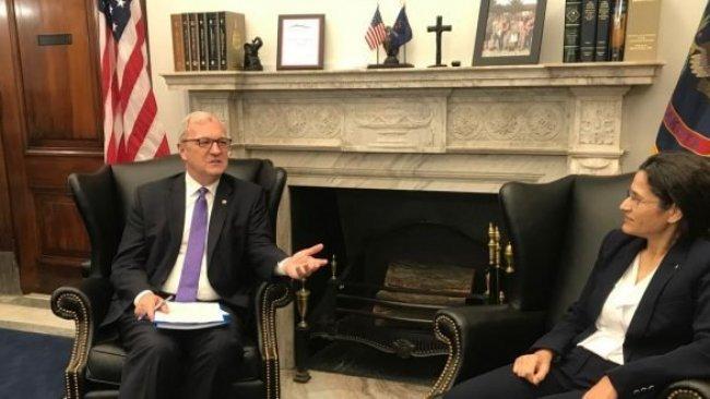İlham Ahmed, ABD'li senatörlerle bir araya geldi