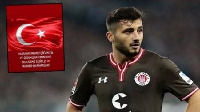 Türk futbolcu 'Rojava' paylaşımları nedeniyle takımdan kovuldu