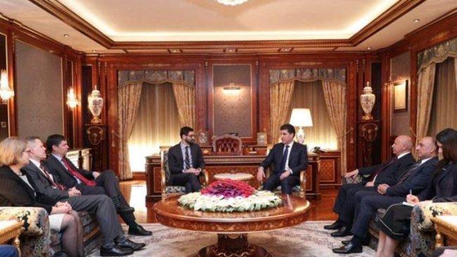 Kürdistan Bölgesi Başkanı, ABD'li heyet ile bir araya geldi