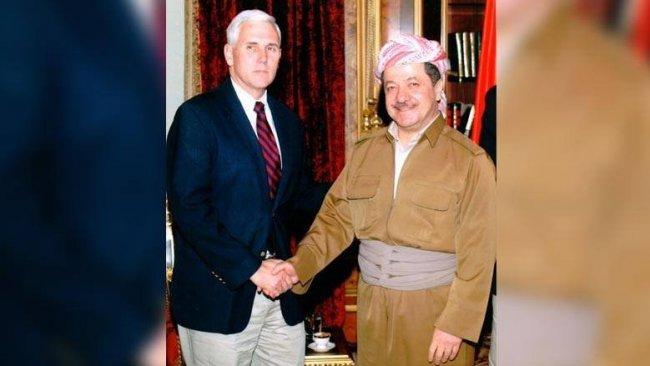 Pence: İlk ziyaretimde efsane Başkan Mesud Barzani'yle görüştüm