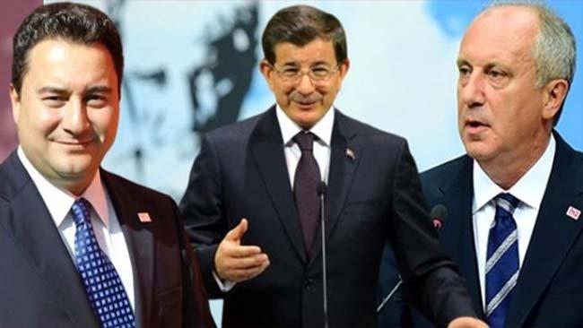 Ada Araştırma'dan Babacan, Davutoğlu ve İnce anketi