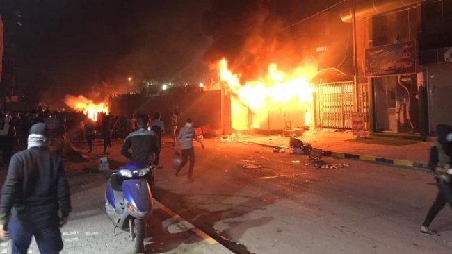 İran Konsolosluğu ateşe verildi: 80 yaralı