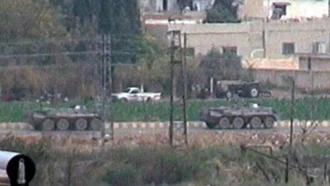 Ortak devriye sonrası Rus askerlerinin dönüşünde DSG detayı