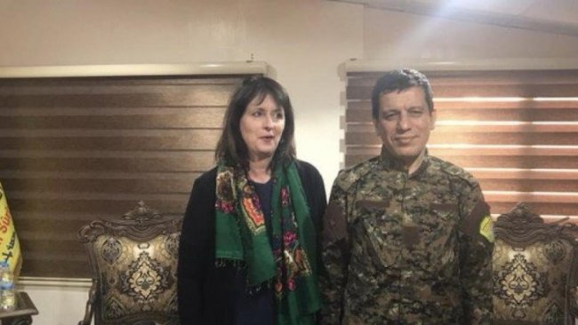 DSG Komutanı Mazlum Kobane, ABD'li komisyon yetkilisiyle görüştü