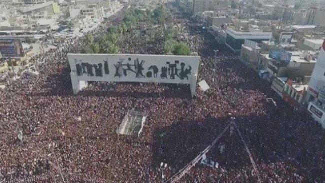 Bağdat'ta milyonlar protesto gösterisinde