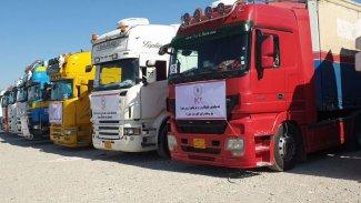 Kürdistan Bölgesi'nden Rojava'ya 40 araçlık yardım konvoyu