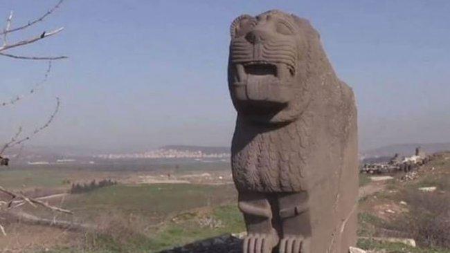 Kürt kentinde 3 bin yıllık aslan heykeli çalındı