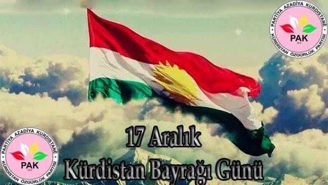 PAK: Kürdistani duygularımızla bayrağımızı yükseltelim