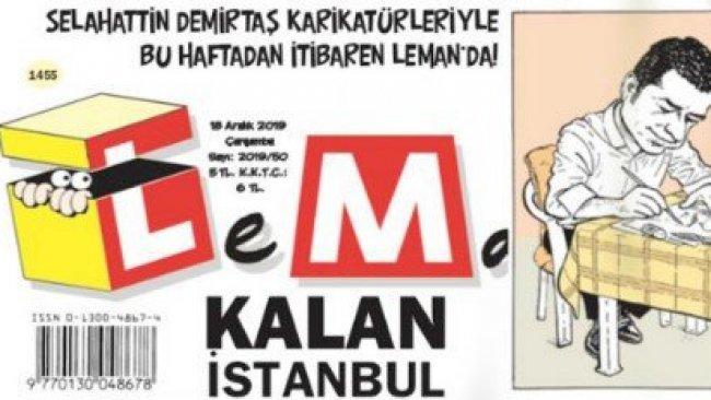 Selahattin Demirtaş Leman dergisinde çizmeye başladı