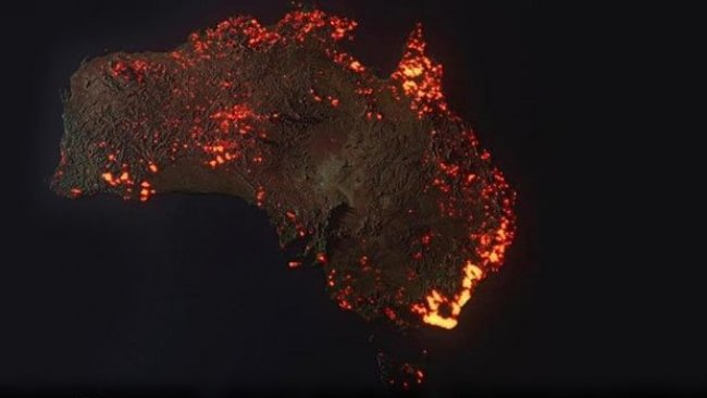 Avustralya'dan Korkutan manzara