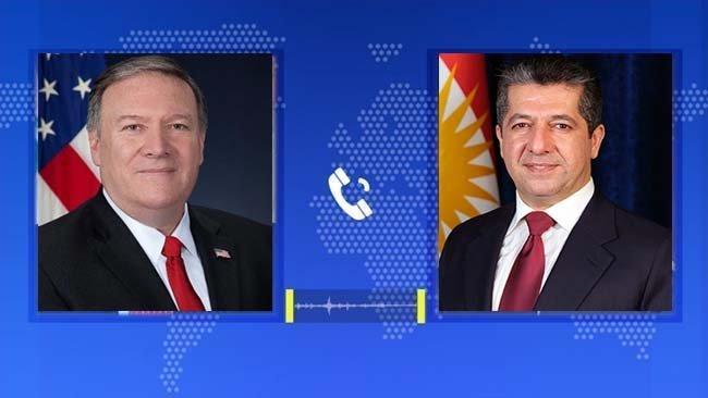 Başbakan Barzani, Mike Pompeo ile son gelişmeleri değerlendirdi