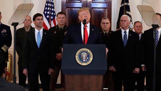 Trump'tan İran'ın füze saldırılarına ilişkin açıklama
