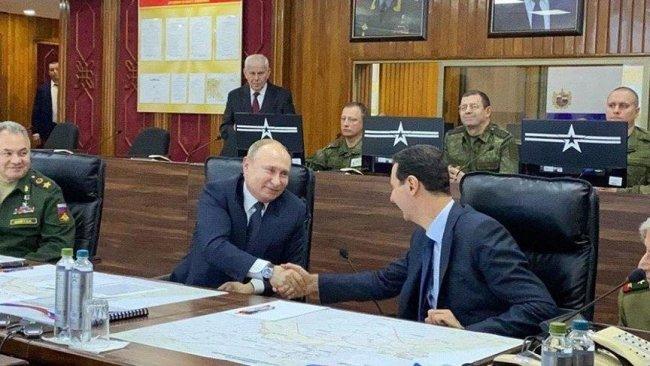 Şam'da bir araya gelen Putin ve Esad ne konuştu?