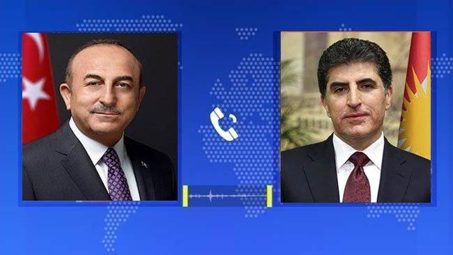 Başkan Neçirvan Barzani ile Çavuşoğlu telefonda görüştü