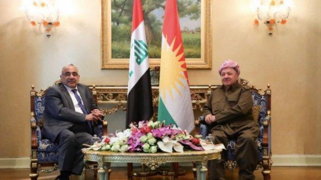 Başkan Mesud Barzani, Abdulmehdi'yle bir araya geldi