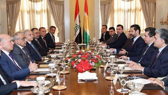 Erbil ve Bağdat arasında görüşme başladı